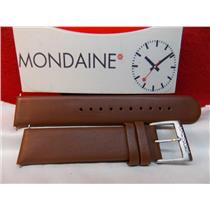Mondaine Swiss Railways Watch Band FE3118.70.18mm Brown Leather Strap Watchband