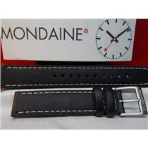 Mondaine Swiss Railways Watch Band FE1946 16mm Leather Stitched Strap Watchband