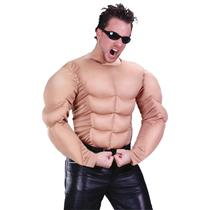 Men's Nude Beige Adult Muscle Shirt Costume Accessory
