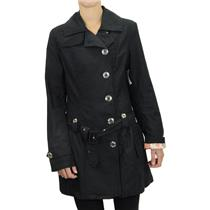S NWT TWILLTWENTYTWO Twill 22 Lara Cotton Twill Trench Coat Black Satin Lining