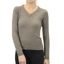 M Love Stitch Heather Grey SUPER SOFT Angora & Wool V Neck Sweater F145R-Short