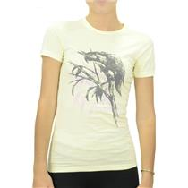 NWT RUCA RVCA Meyer Lemon Yellow/Pink Parrot Graphic Island T-Shirt Top 21120095