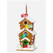 Hallmark Club Ornament 2015 A Tweet Retreat - Gingerbread Birdhouse - #QXC5129