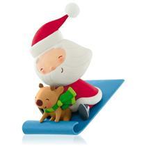 Hallmark Series Ornament 2015 Kringle and Kris #2 - Santa and Reindeer - #QX9107