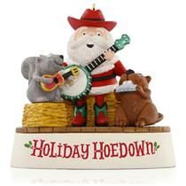 Hallmark Magic Ornament 2015 Holiday Hoedown - Santa and Friends - #QGO1337