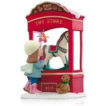 Hallmark Magic Ornament 2015 Toy Store Dreams - Light Sound & Motion QGO1327-SDB