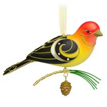 Hallmark Series Ornament 2015 Beauty of Birds #11 - Western Tanager - #QX9159
