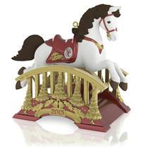 Hallmark Series Ornament 2015 Santa Certified #3 - Rocking Horse - QX9099