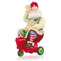 Hallmark Series Ornament 2015 Toymaker Santa #16 - Tiny Tractor - #QX9059