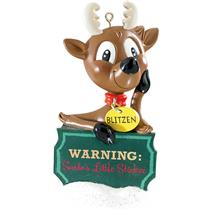 Carlton Heirloom Magic Ornament 2015 Humorous Farting Reindeer - #CXOR112H