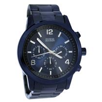 Guess Men's U0123G3 Blue Stainless-Steel Quartz Watch with Blue Dial