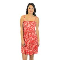 Sz 4 Marc by Marc Jacobs Silk Blend Red Ruffle Front Dress w/White Heart Print