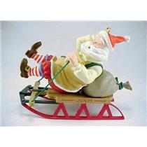 Hallmark Series Ornament 2005 Toymaker Santa #6 - Santa Sledding - #QX2205-SDB