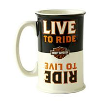 Hallmark Harley Davidson Collection Ride to Live, Live to Ride Flip Mug #DAV1401