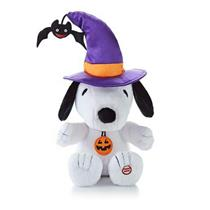 Hallmark Peanuts Gang Snoopy the Witch Halloween Techno Plush - #HGN1110