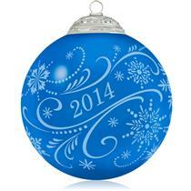 Hallmark Series Ornament 2014 Christmas Commemorative #1 - Glass - #QX9223-DB