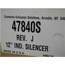 New Cummins 47840 S IND. Silencer 12''