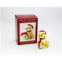 Carlton Series Ornament 2008 Puppy Love #8 - Yellow Lab - #CXOR054T