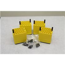 Sorvall Heraeus 28-Place 4-Tier Rotor Bucket Insert Adapters #6453 (Lot of 4)