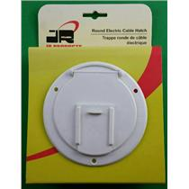 JR Products 370-2-A RV Electric Cable Hatch Cord Door Polar White