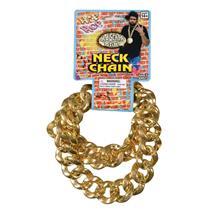 80's Big Gold Neck Chain Necklace Hip Hop Pimp Gangster Accessory