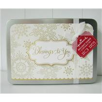 Hallmark Exclusive Blessings to You Holiday Christmas Cards in Tin - #PX4356