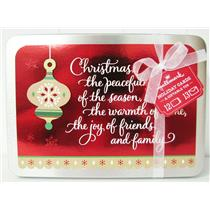 Hallmark Exclusive Red Foil With Tan Ornament Holiday Cards In Tin - #PX3746