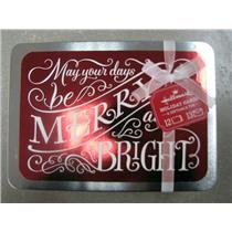 Hallmark White Merry & Bright On Red Foil Holiday Cards In Tin - #PX3763