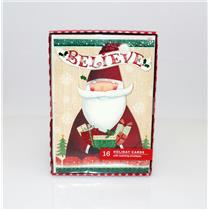 Hallmark Exclusive Believe Santa - Box of 16 Image Arts Christmas Cards #BXC4176