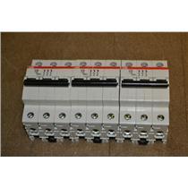 (Lot of 3) ABB S203-D20 Circuit Breakers 3 Pole 277/480V 20 Amp
