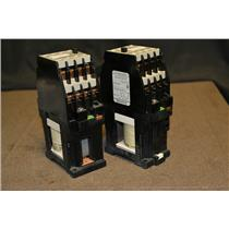 (LOT OF 2) Siemens 3TH8260-0B Contactor, 3TH8260-OB, 24V Coil, 660V, Ith2 16A