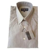 15 32/33 NWT Authentic Robert Talbott Mens Gray French Cuff Fine Dress Shirt