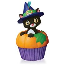Hallmark Series Ornament 2015 Keepsake Cupcakes #3 - Punkin' Kitty - #QHA1038