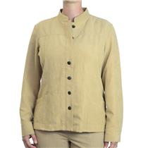 Sz 2 Chico's Women's Polyester Textured Micro-Suede Jacket Button Front