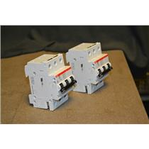 (Lot of 2) ABB S 263 D 20 Circuit Breaker, 3P, 480VAC, 20A