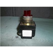 Used General Electric CR104PXG22 Red Illuminated Selector Switch 120V 60/50Hz