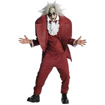 Men's Beetlejuice Shrunken Head Teen Costume Size 34-36