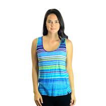 Sz S C&C California Bright Multi Colored Striped Scoop Neck Tank Top 84M03K08