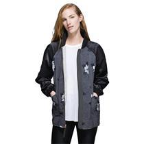 8 NWT Lululemon Both Ways Bomber Jacket Heather White/Atomic Flower/Black/Silver