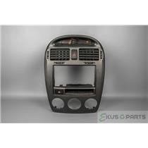 04-06 Kia Spectra Radio Climate Dash Trim Bezel w/ Vents Rear Defrost LX EX