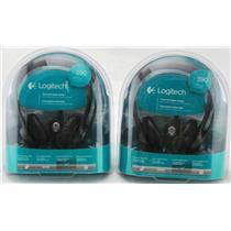 2 x Logitech h390 USB Headsets 981-000014