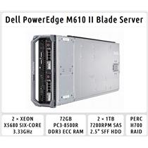 Dell PowerEdge M610 Blade Server 2xSix-Core Xeon 3.33GHz + 72GB RAM + 2x1TB SAS