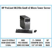 HP ProLiant ML310e Gen8 v2 Micro Tower E3-1220v3 Quad-Core Xeon 3.1GHz + 8GB RAM
