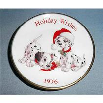 Hallmark Ornament 1996 Holiday Wishes Plate - Disney's 101 Dalmatians QXI6544-DB
