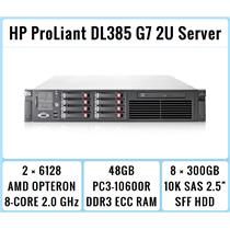 HP ProLiant DL385 G7 Server 2xOpteron 8-Core 2.0GHz + 48GB RAM + 8x300GB 10K SAS