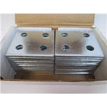 "20 **New ** Power-Strut PS 621 EG Square 4-Hole Connecting Plate (1/2"" holes)"