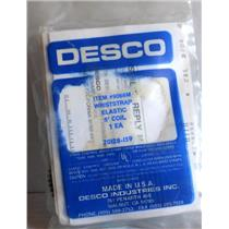 DESCO STATIC CONTROL WRISTSTRAP ELASTIC 5' COIL, 9066M, NEW IN BOX