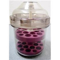 Beckman Coulter 359484 Purple Tube Rack & Aerosolve Canister Round-Bottom Tubes