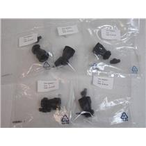 (5) TE Connectivity/Amp  182658-1  Thermoplastic Circular Cable Clamp (Size 11)