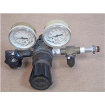 Air Products E12-B-N145A  CGA High Pressure Gas Regulator Valve with Gauges